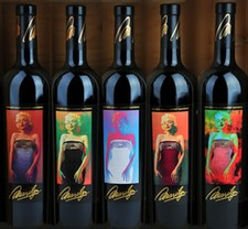 1998-2002 Marilyn Cabernet Vertical w framed set
